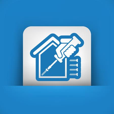 bricolage: Home repair icon Illustration