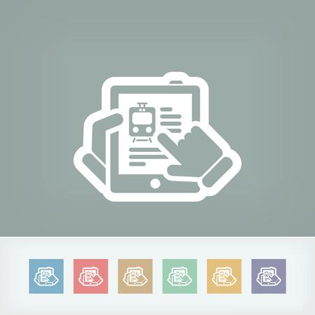 Travel agency website on tablet Vector