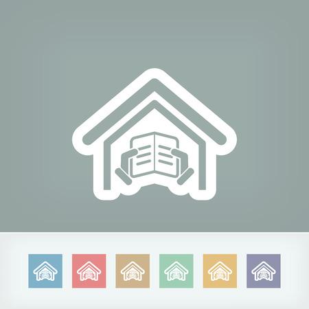 athenaeum: Library icon