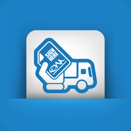consignee: Delivery document sign