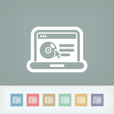 ic�ne logiciel: ic�ne du logiciel sur le site Web Illustration