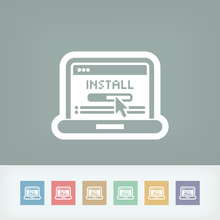 install: Pc install icon Illustration