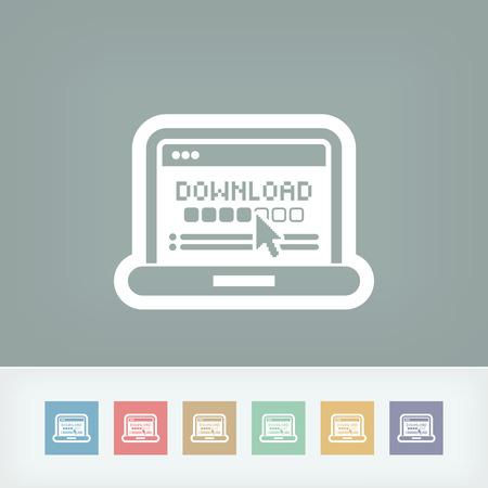Download progress pc icon Vector