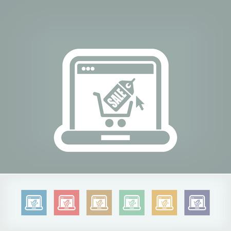 online icon: Buy online icon Illustration