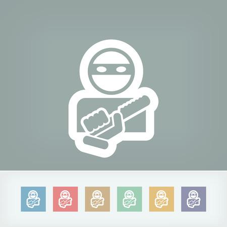 Armed bandit icon Illustration
