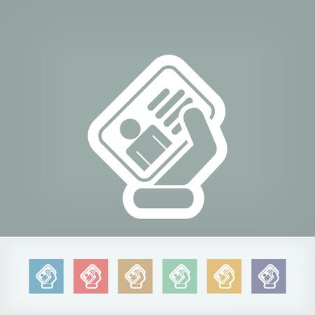 timecard: Identity card icon