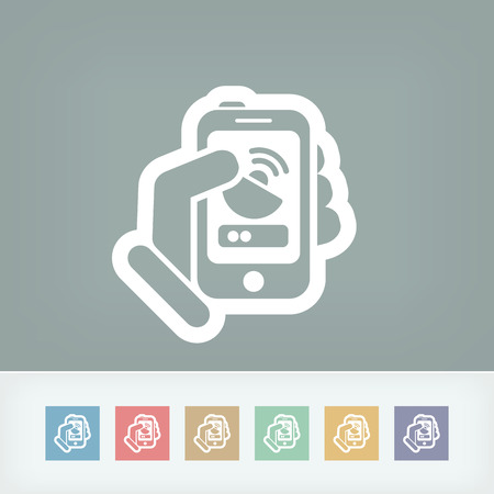 Antenna smartphone icon Vector