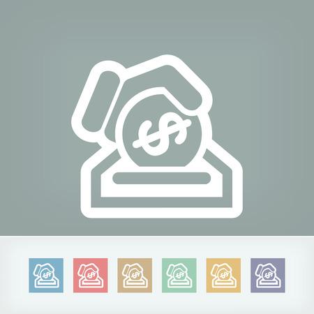 Business coin icon Stock Vector - 28333465
