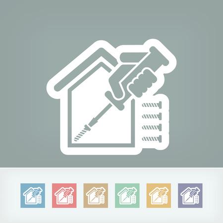 gaffer: Home repair icon Illustration