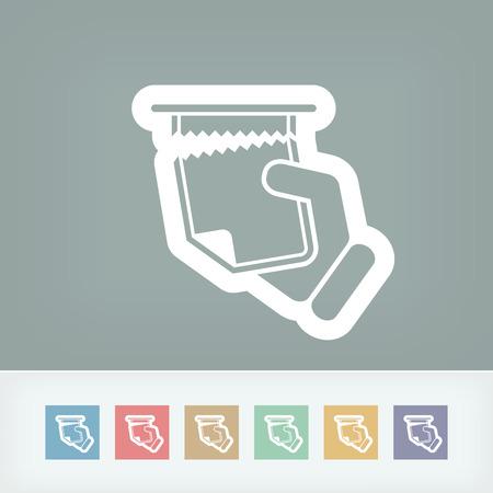 arracher: Snatch feuille de papier