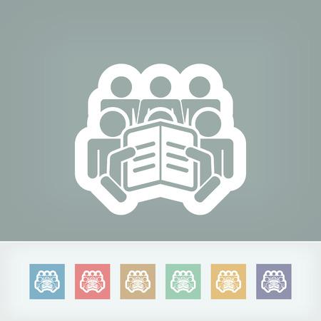 Reader concept icon Stock Vector - 28334099