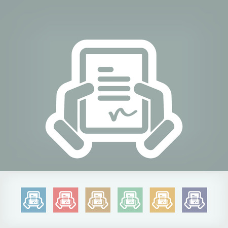 Document signature icon Stock Vector - 28334166