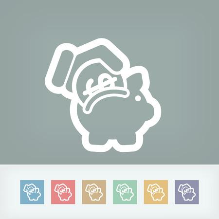 Business coin icon Stock Vector - 28334302