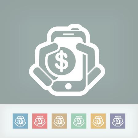 Phone cost icon Illustration
