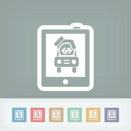 Car sales icon Vector