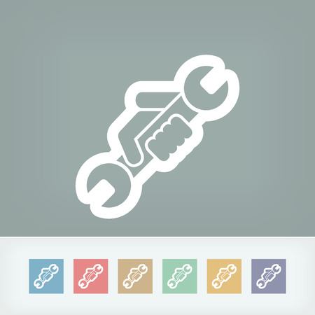 Wrench symbol icon