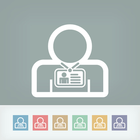 Staff card identity Illustration