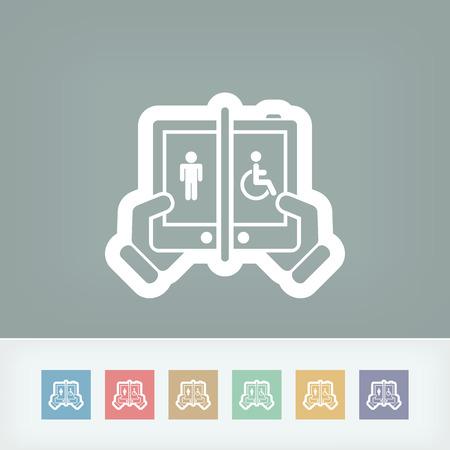 Disabled social network Vector
