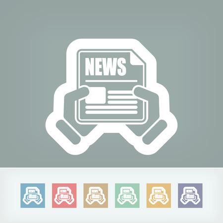 news update: Newspaper icon Illustration