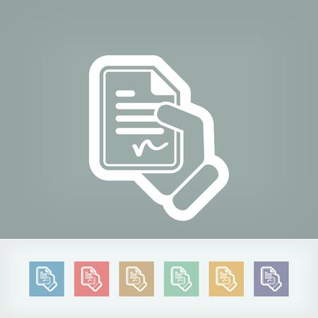 ratification: Document signed icon Illustration