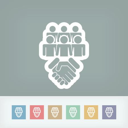 akkoord: Sociale overeengekomen icoon