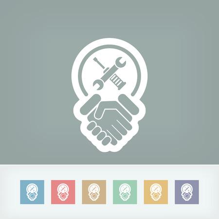 fairness: Worker handshake icon