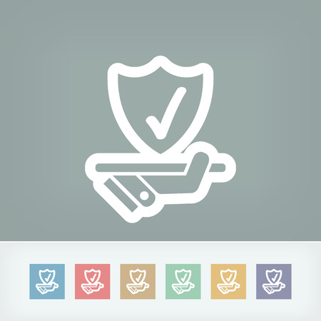 alter: Best protection service icon Illustration