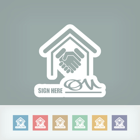clasp: Signed document icon