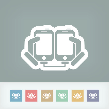 Smartphone files sharing Vector