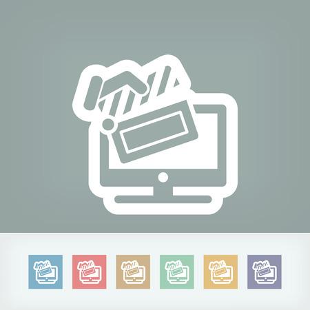Tv cinema icon Vector
