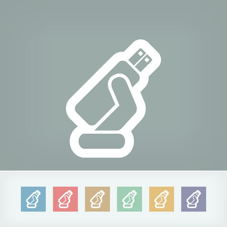 tb: Usb memory icon Illustration