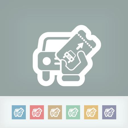 drive ticket: Card car icon