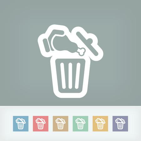 foodstuffs: Food trash icon