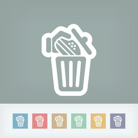 unsanitary: Trashing a sandwich