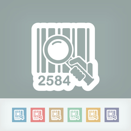 Barcode search Stock Vector - 28336891