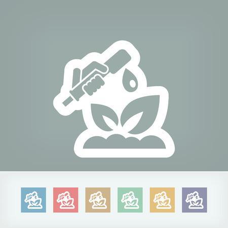 Watering plant Vector