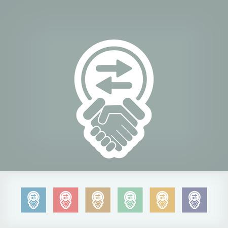 commercial activity: Exchange agreement icon
