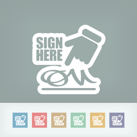 Sign on document icon Stock Vector - 28337242