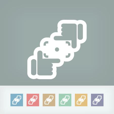시뮬레이션: 카메라 렌즈 시뮬레이션 아이콘