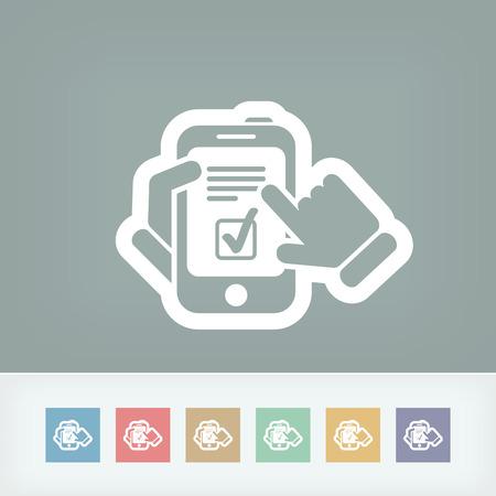 Checkmark menu op smartphone