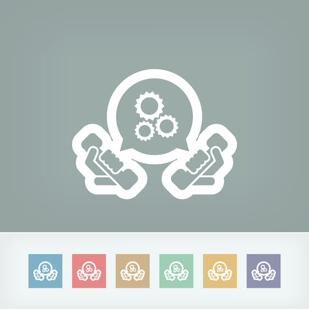Technical assistance icon Vector