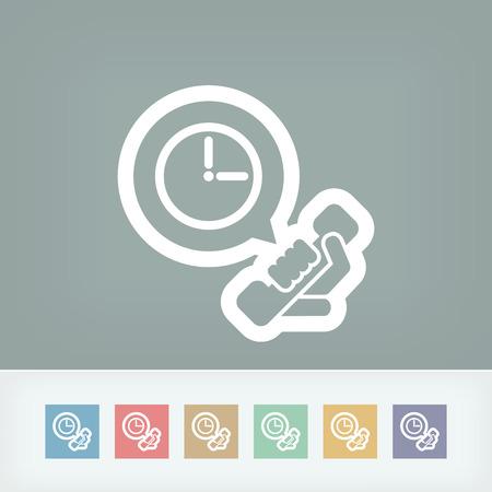 wake up call: Clock phone icon