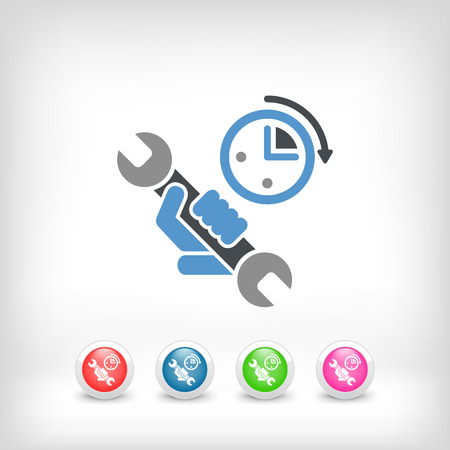 Assistance time icon Vector