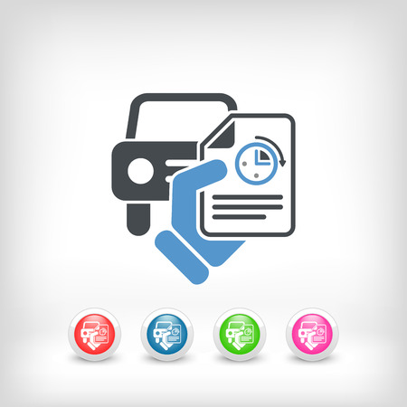 response time: Fast car service Illustration