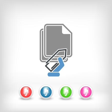 Paper clip icon Illustration