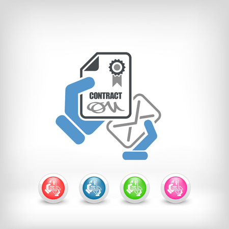 autographing: Contract icon Illustration