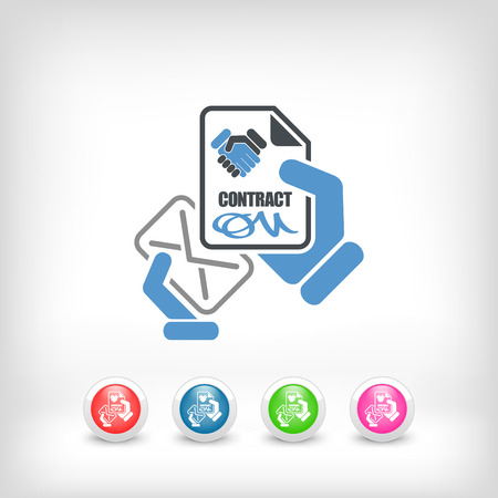 Mail with contract Vector