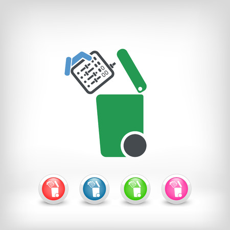 Separate waste collection icon Vector