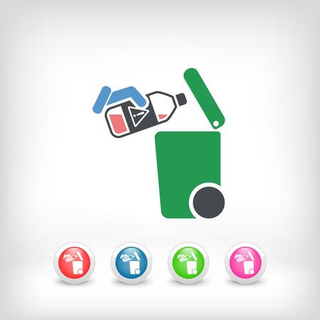 typology: Separe icono de recogida de residuos Vectores