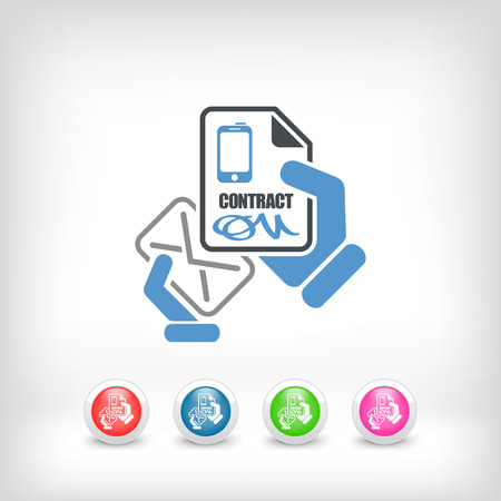 Mail with a phone contract Illustration
